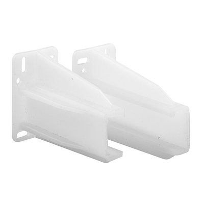 """Picture of R 7227 - Drawer Track Back Plate, 5/16"""" x 7/8"""", Plastic, White"""