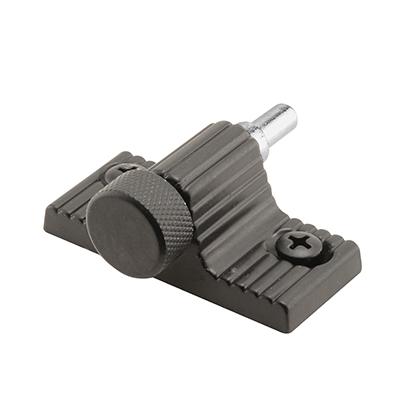 """Picture of S 4003 - Patio Door Lock, 1-9/16"""" HC, Diecast, Black, Twist-In Action"""