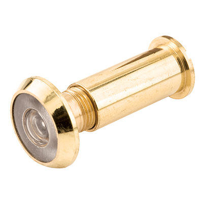 """Picture of S 4244 - Door Viewer, 9/16"""" x 200 Deg, Brass Housing and Finish"""