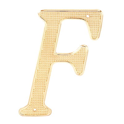 "Picture of S 4252 - HOUSE LETTER ""F"", 4"", BRASS FINISH"
