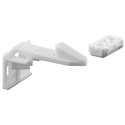 Picture of S 4719 - Spring Loaded Cabinet Catch, White