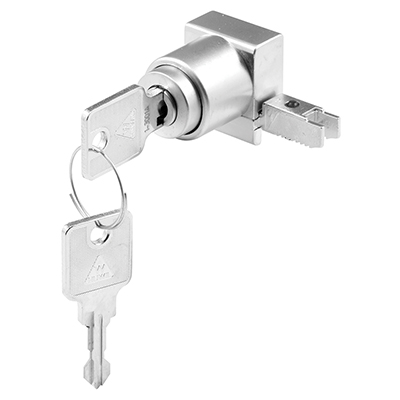 Picture of S 4894 - SHOWCASE PLUNGER LOCK, END CHANNEL MOUNT, SATIN CHROME