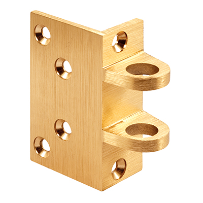 """Picture of SE 15295 - SEGAL Angle Strike Only, 1-9/16"""" Deep Inset, Brushed Brass"""