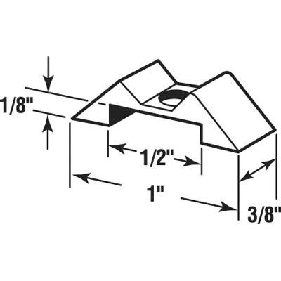 "Picture of PL 14840 - Storm Door Panel Clips, 1"", Aluminum, Mill, Qty: 25"