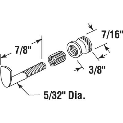 "Picture of PL 14681 - Casement Screen Lock, 7/8"", Aluminum, Mill, 25 Ea."