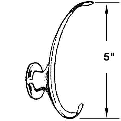 Picture of U 9171 - COAT/HAT HOOK, BRASS, COMMERCIAL