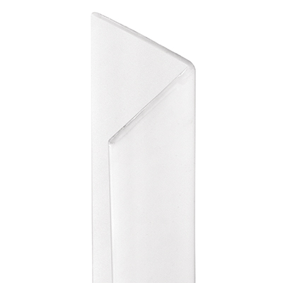 """Picture of U 10066 - 3/4"""" x 48"""" WHITE CORNER SHIELD W/TAPE"""