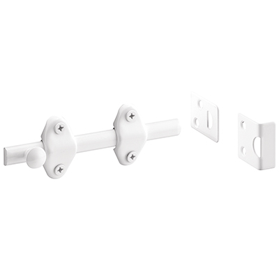 Picture of U 10267 - Surface Bolt, 4 in., White , 2 stikes included