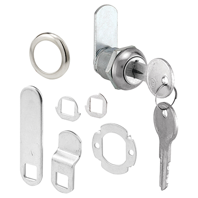 """Picture of U 9941 - Drawer & Cabinet Lock, 3/4"""" Diam., Stainless Steel Face"""