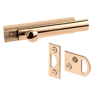 "Picture of U 9962 - Surface Bolt, 3"", Brass, Polished Brass Finish"